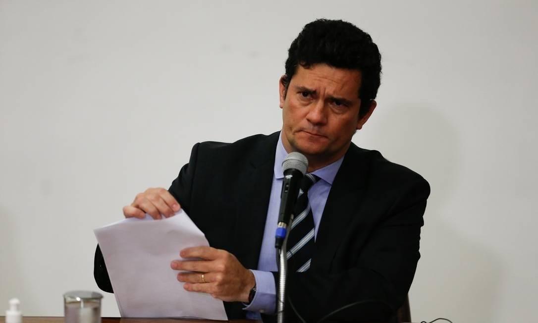O ex-ministro da Justiça, Sérgio Moro Foto: Pablo Jacob / Agência O Globo