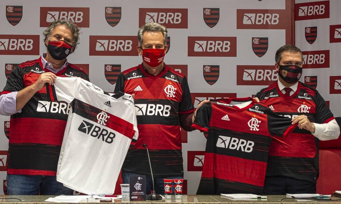 Flamengo tem contrato com o BRB Foto: Marcelo Cortes / Marcelo Cortes