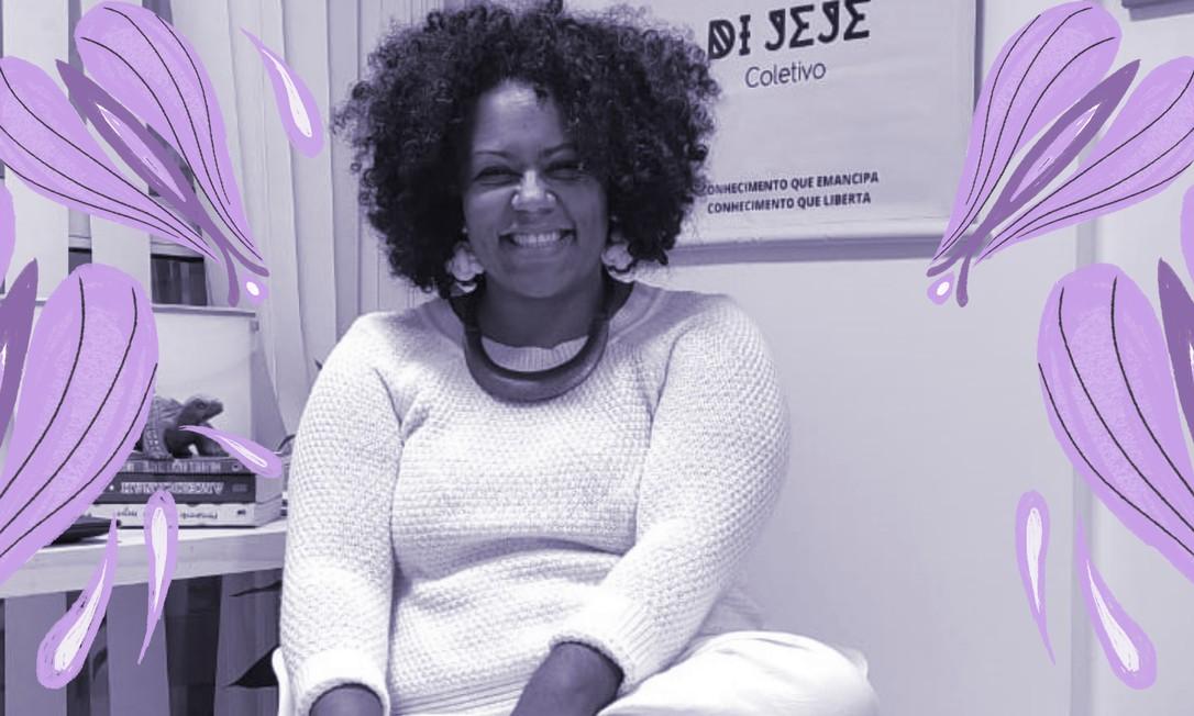 Jaque Conceição criou a primeira escola do Brasil com foco em educação feminista e antirracista, que viroureferência para a ONU Foto: Divulgação