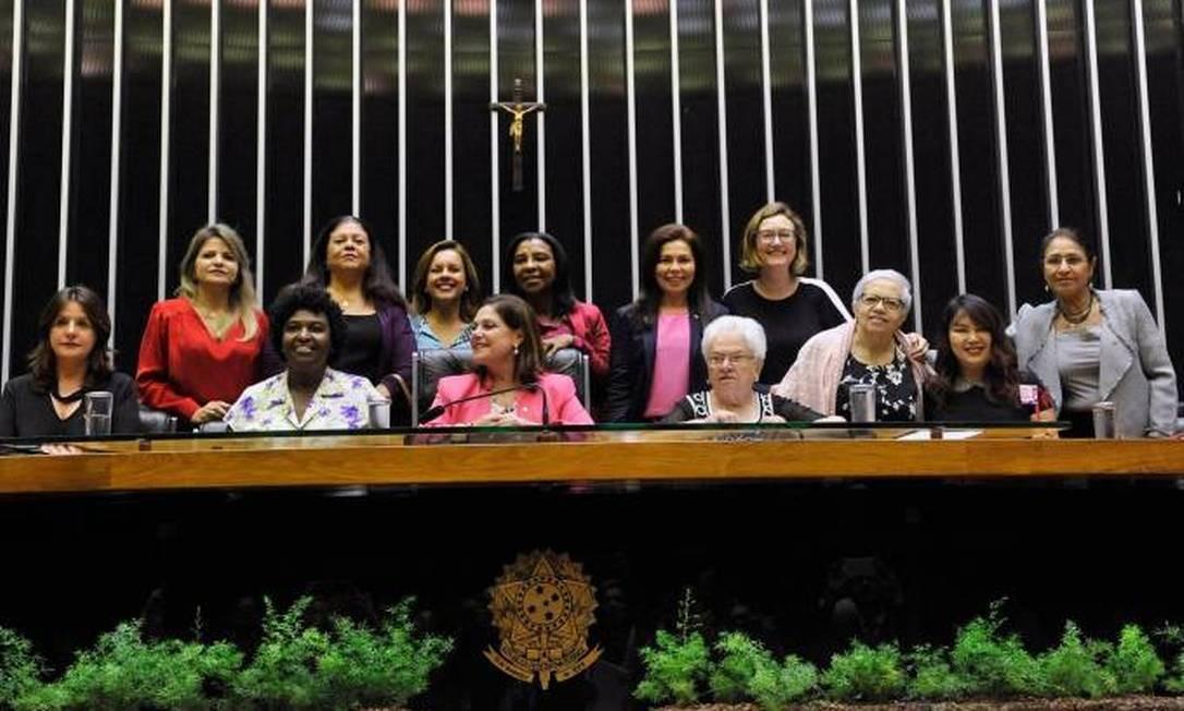 Hoje, 89 mulheres têm assento no Congresso, sendo 77 delas deputadas Foto: Luis Macedo/Agência Câmara