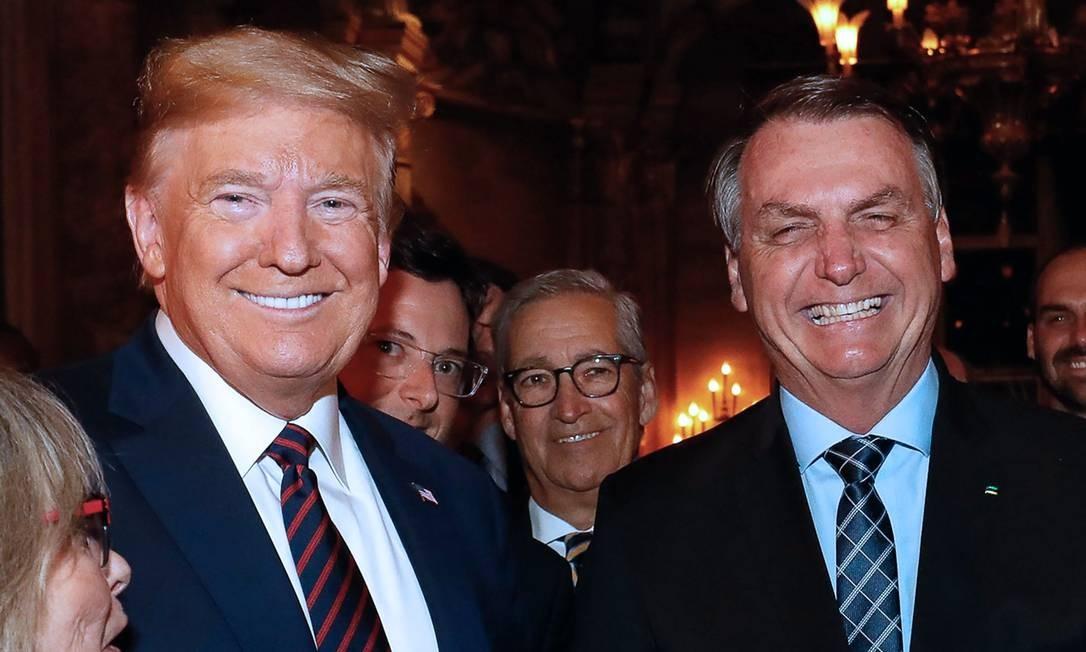 Donald Trump e Jair Bolsonaro se encontraram em março deste ano nos EUA Foto: Alan Santos / AFP