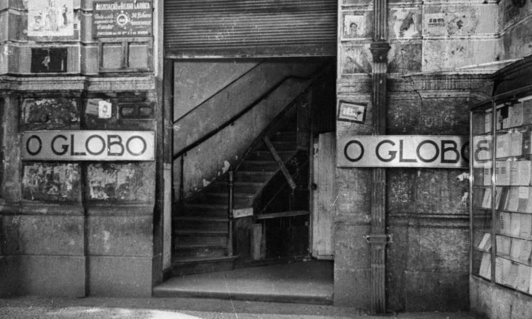 Entrada do prédio onde funcionava a primeira sede Foto: Arquivo