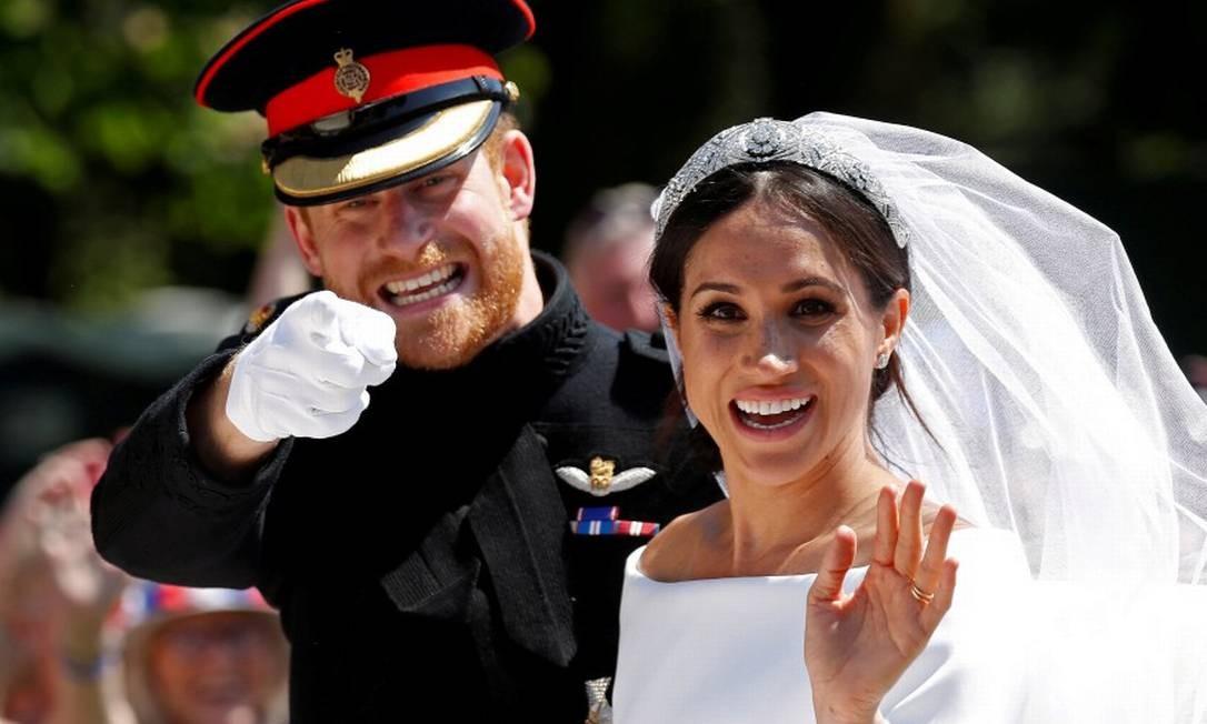 Harry eMeghan, no casamento em maio de 2018 Foto: Damir Sagolj / REUTERS