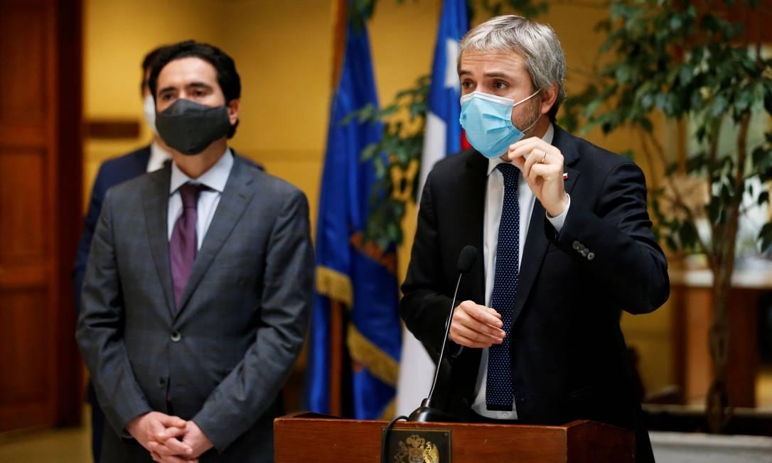 Gonzalo Blumel é foi ministro do Interior do Chile de outubro de 2019 até julho de 2020 Foto: RODRIGO GARRIDO / REUTERS