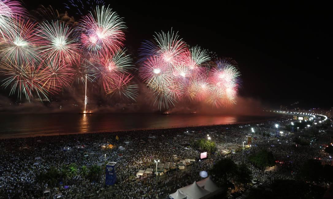 Festa diferente: réveillon de Copacabana este ano não deve ter aglomeração, devido à pandemia do novo coronavírus; prefeitura estuda modelos alternativos Foto: Gabriel de Paiva / Agência O Globo