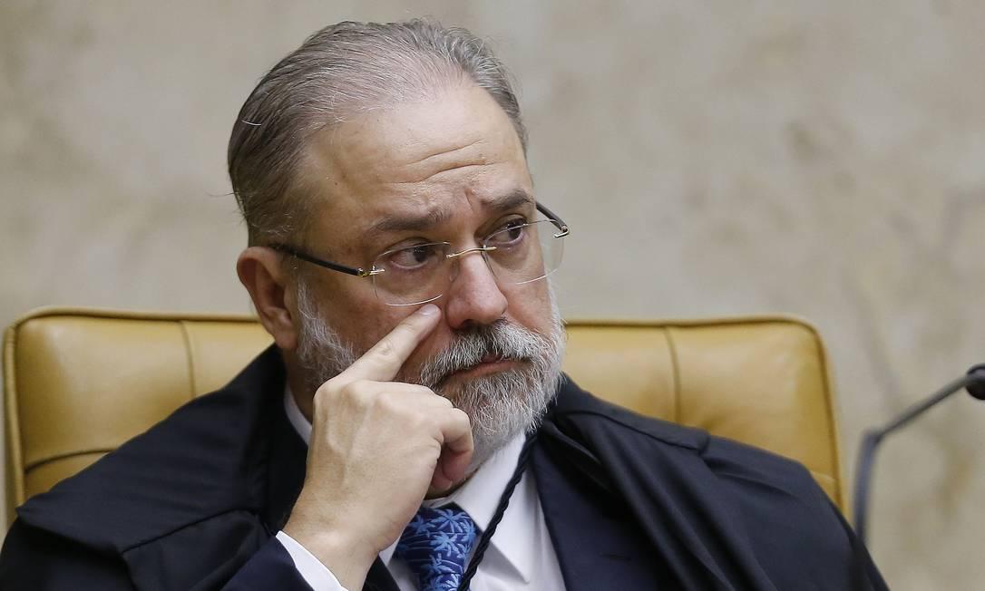 O procurador-geral da República, Augusto Aras, na abertura dos trabalhos do Supremo Tribunal Federal Foto: Jorge William/Agência O Globo/03-02-2020