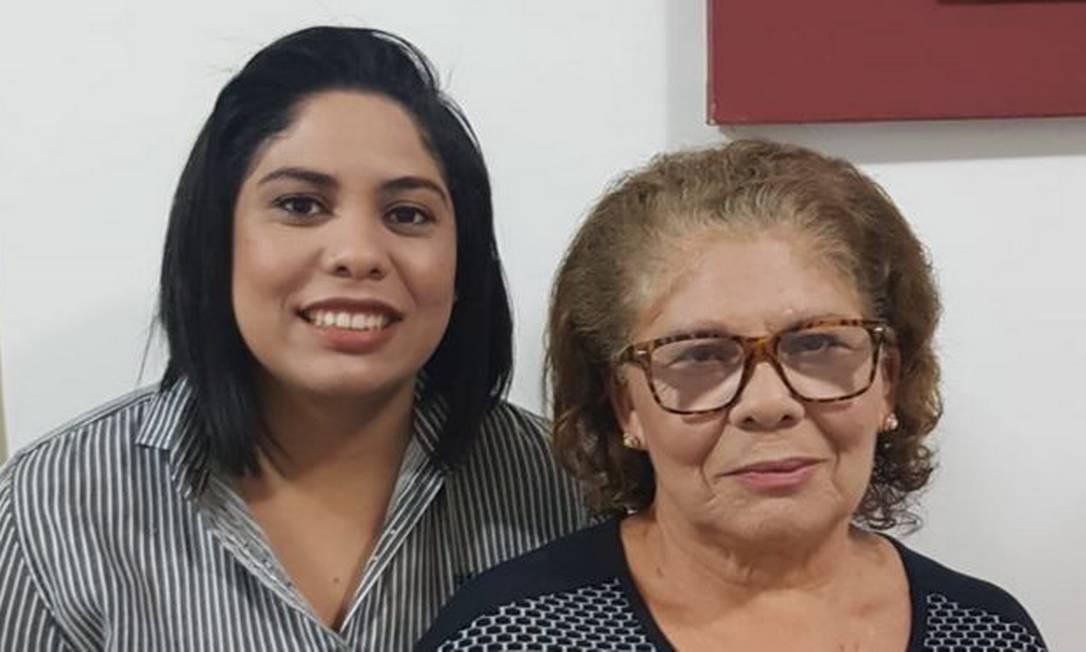 Jessica Tomaz, de 25 anos, decidiu deixar o trabalho pela saúde da mãe, Maria do Socorro, que é hipertensa Foto: Arquivo pessoal