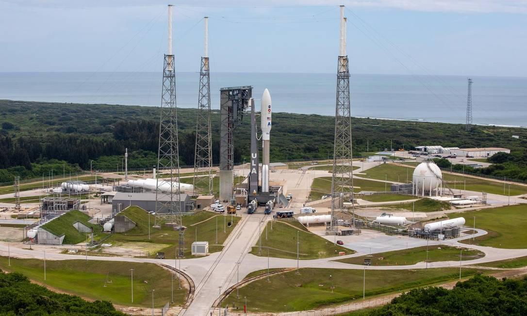 O foguete Atlas-V, que levou o veículo da Nasa Perseverance, decolou de Cabo Canaveral, na Flórida Foto: Nasa