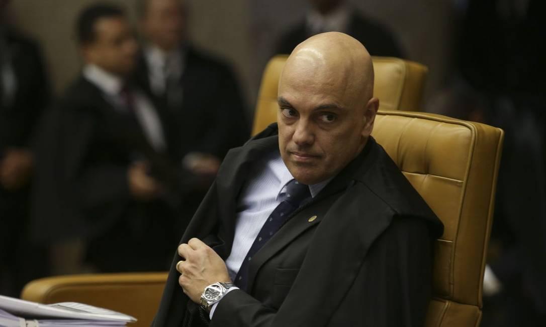 O ministro do STF Alexandre de Moraes determinou a prisão do deputado na terça-feira Foto: Antônio Cruz / Agência Brasil