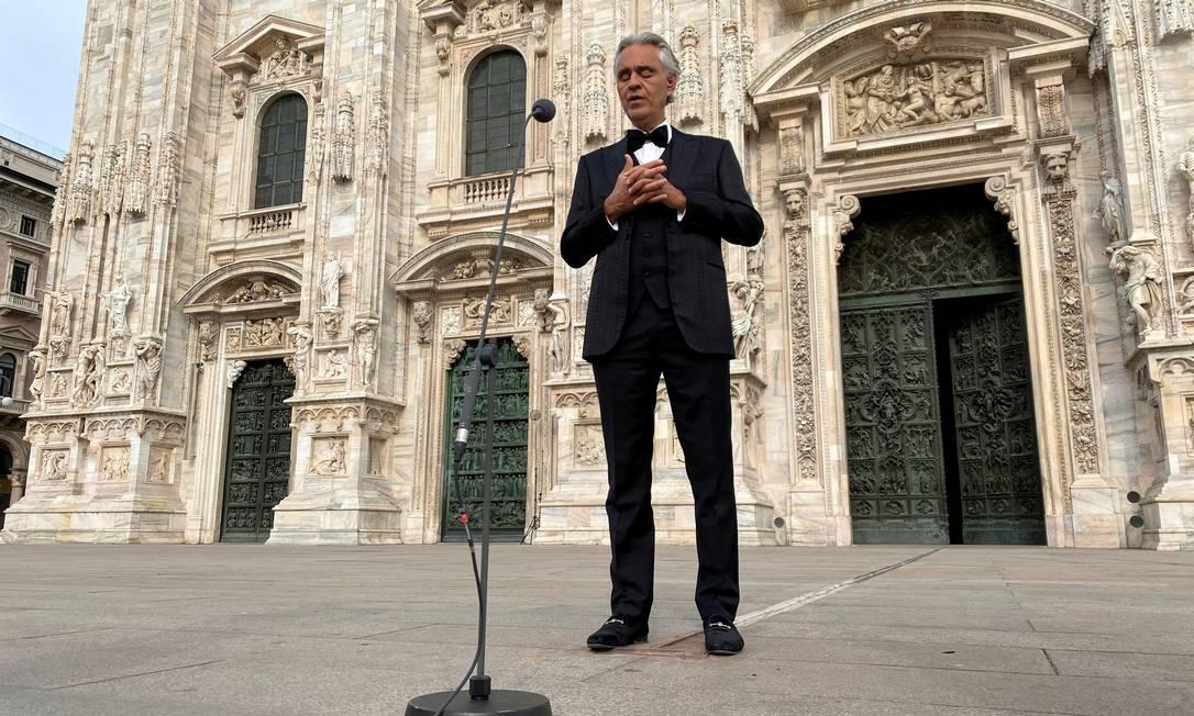 Andrea Bocelli é um dos principais tenores do mundo na atualidade Foto: Alex Fraser / REUTERS