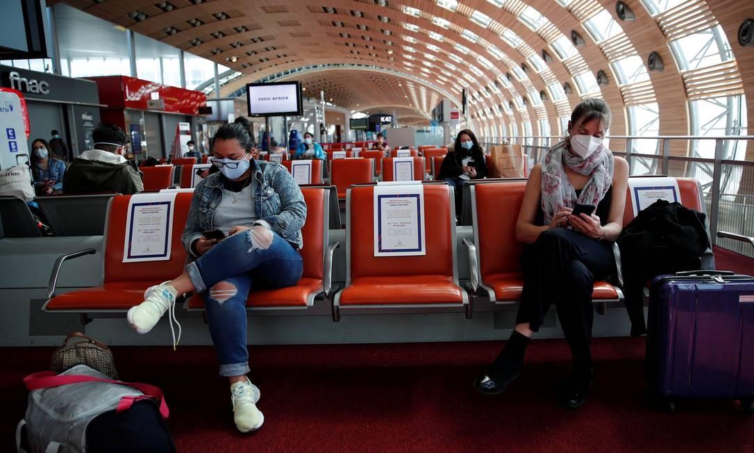 Aeroporto Charles de Gaulle, em Paris. Entrada de estrangeiros voltará a ser permitida no Brasil Foto: Benoit Tessier / Reuters