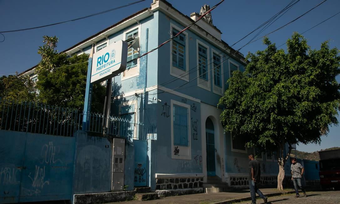 Escola Municipal Benevenuta Ribeiro fechada no Méier, Zona Norte do Rio Foto: Brenno Carvalho / Agência O Globo