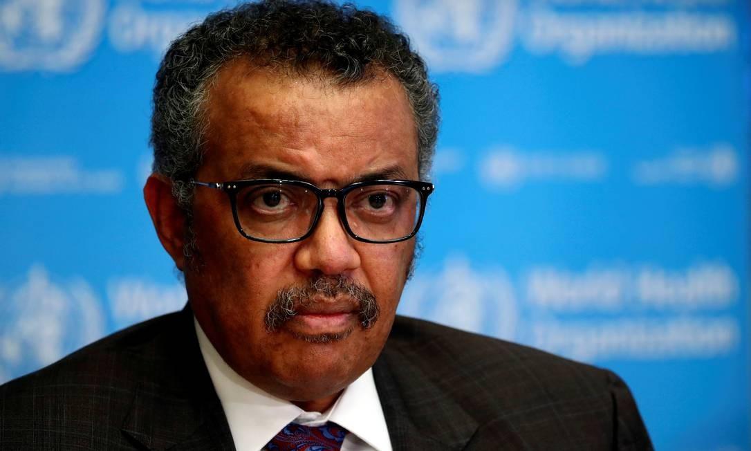 Tedros Adhanom Ghebreyesus, diretor-geral da OMS Foto: Denis Balibouse / Reuters