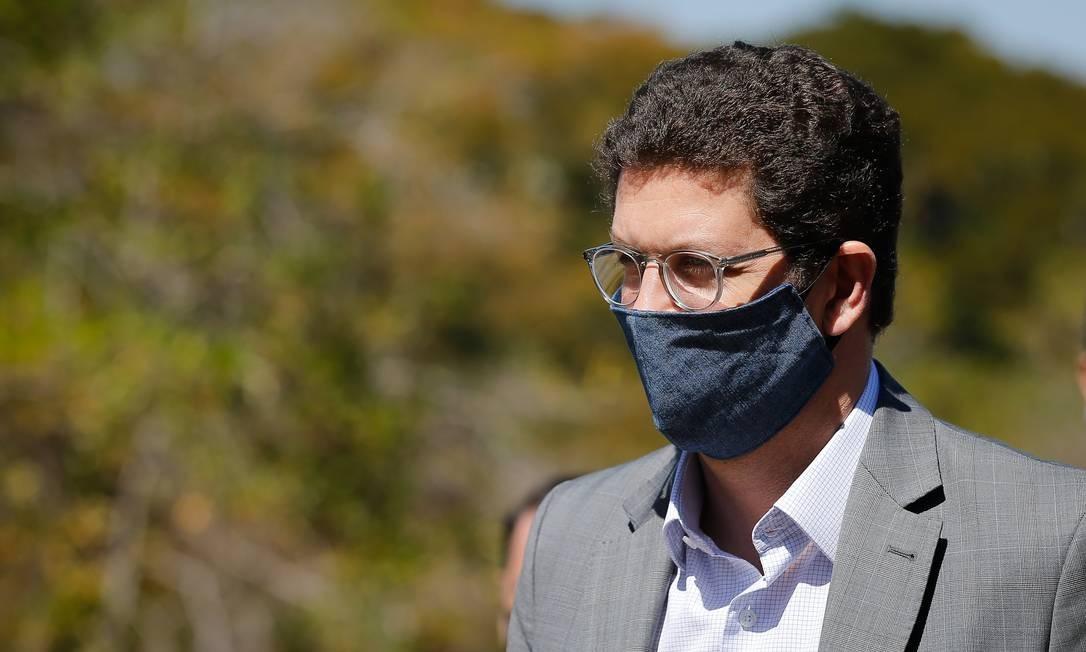 O ministro do Meio Ambiente, Ricardo Salles, visitou nesta quinta-feira o Parque Nacional de Brasília Foto: Pablo Jacob / Agência O Globo