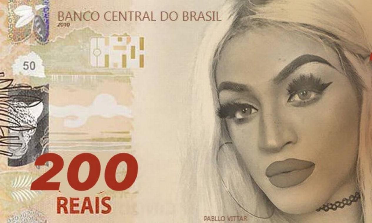 Pablo Vittar foi citada na votação para eleger quem deveria estampar a nota de R$ 200 Foto:
