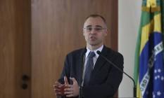 Ministro da Justiça, André Mendonça, já estava no cargo na ocasião Foto: Jose Cruz / Agência O Globo