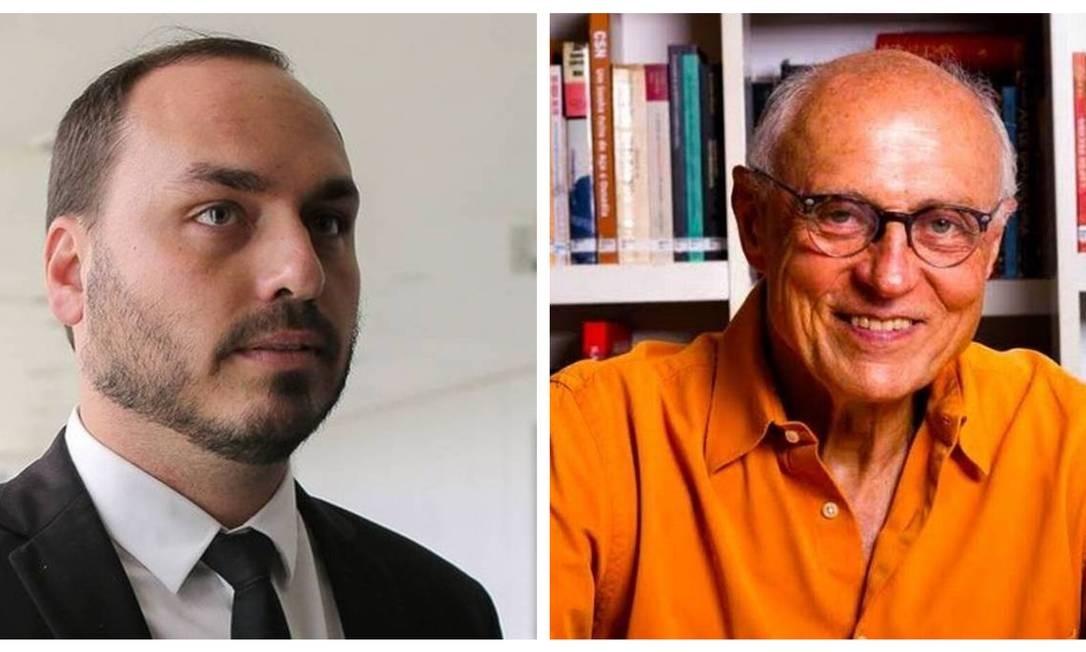 Carlos Bolsonaro e Eduardo Suplicy Foto: Agência O Globo