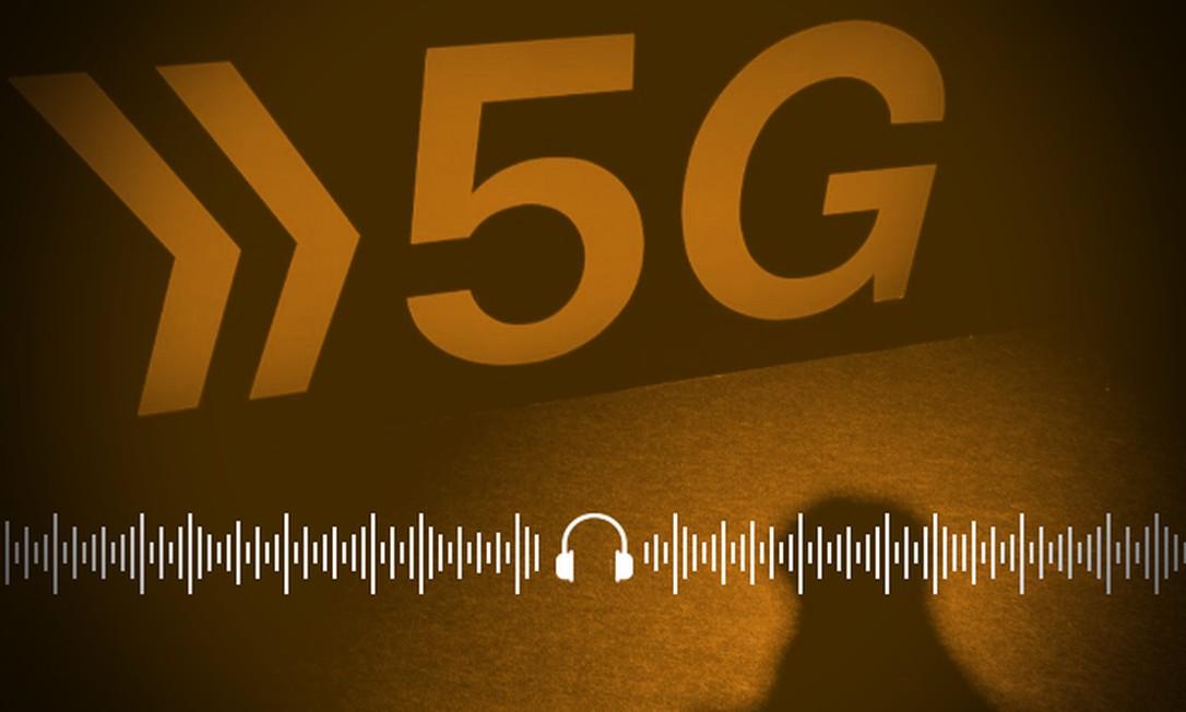 Leilão da rede 5G no Brasil, que ocorreria em 2020, ficou para o ano que vem Foto: Arte