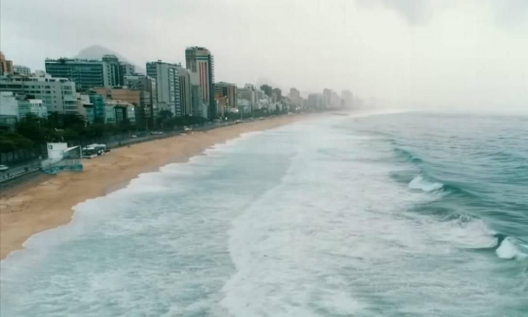 Sexta-feira ainda terá registro de chuva em pontos do Rio Foto: TV Globo / Reprodução
