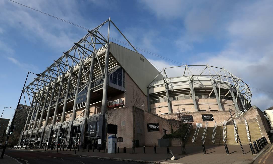 St James' Park, estádio do Newcastle: venda do clube é vetada Foto: Scott Heppell / REUTERS/01.02.2020