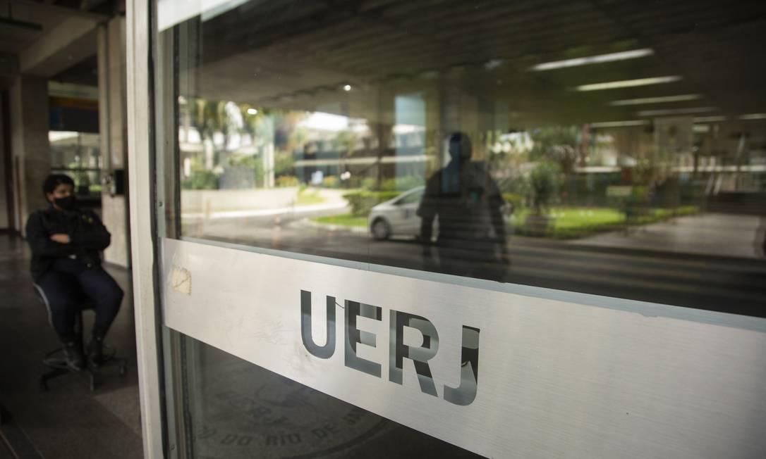Universidade Estadual do Rio de Janeiro UERJ, sem movimento em época de Covid-19. Foto: Gabriel Monteiro / Agência O Globo