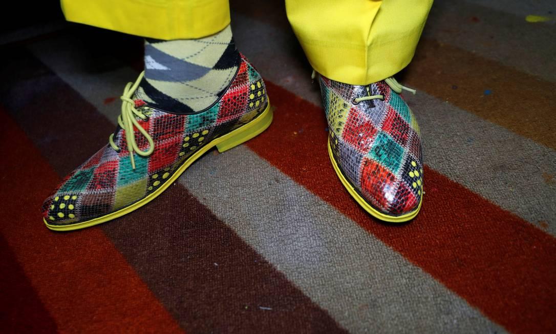 Em tudo que veste, Mwangi aposta em tons vivos Foto: THOMAS MUKOYA / REUTERS