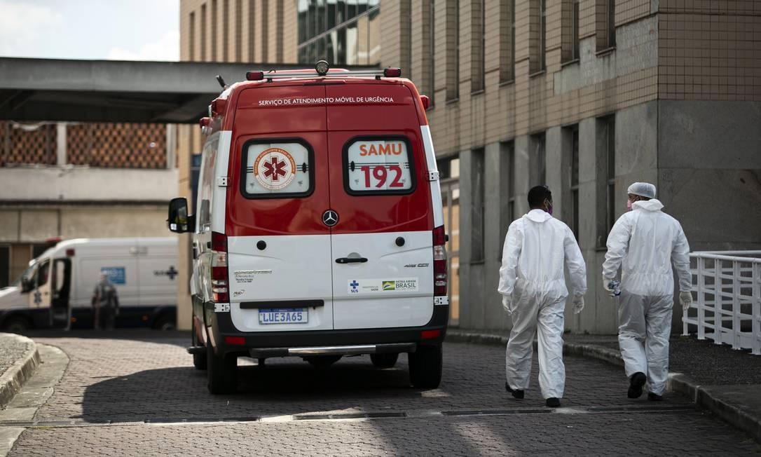 Movimentação no Hospital Ronaldo Gazolla, em Acari, em abril (Arquivo) Foto: Hermes de Paula / Agência O Globo