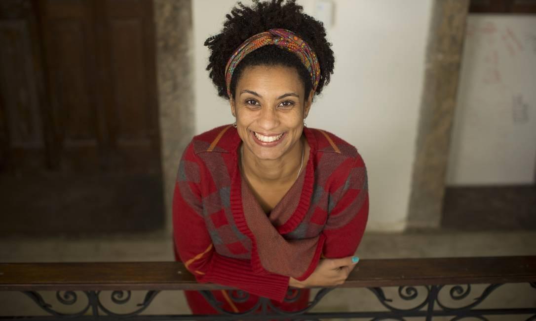Marielle Franco: vereadora do PSOL foi assassinada em março de 2018, junto ao seu motorista, Anderson Gomes. Até hoje não se sabe quem foram os mandantes do crime Foto: Márcia Foletto / Agência O Globo