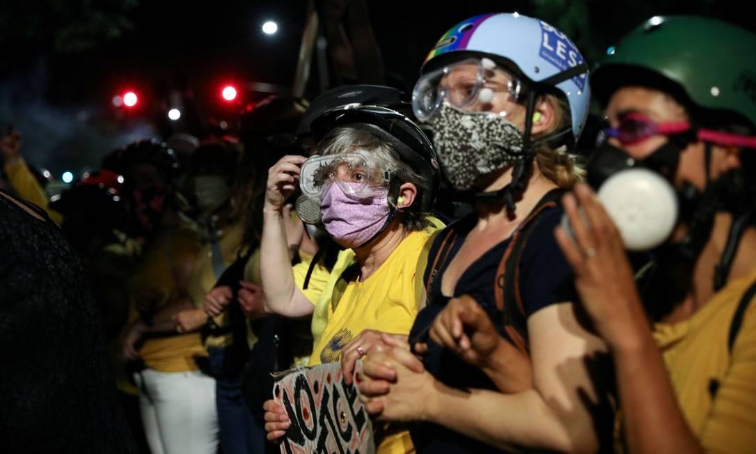 Participação das mães retifica força de movimento contra o racismo e a brutalidade policial que se espalhou e ganhou força pelos Estados Unidos Foto: CAITLIN OCHS / REUTERS