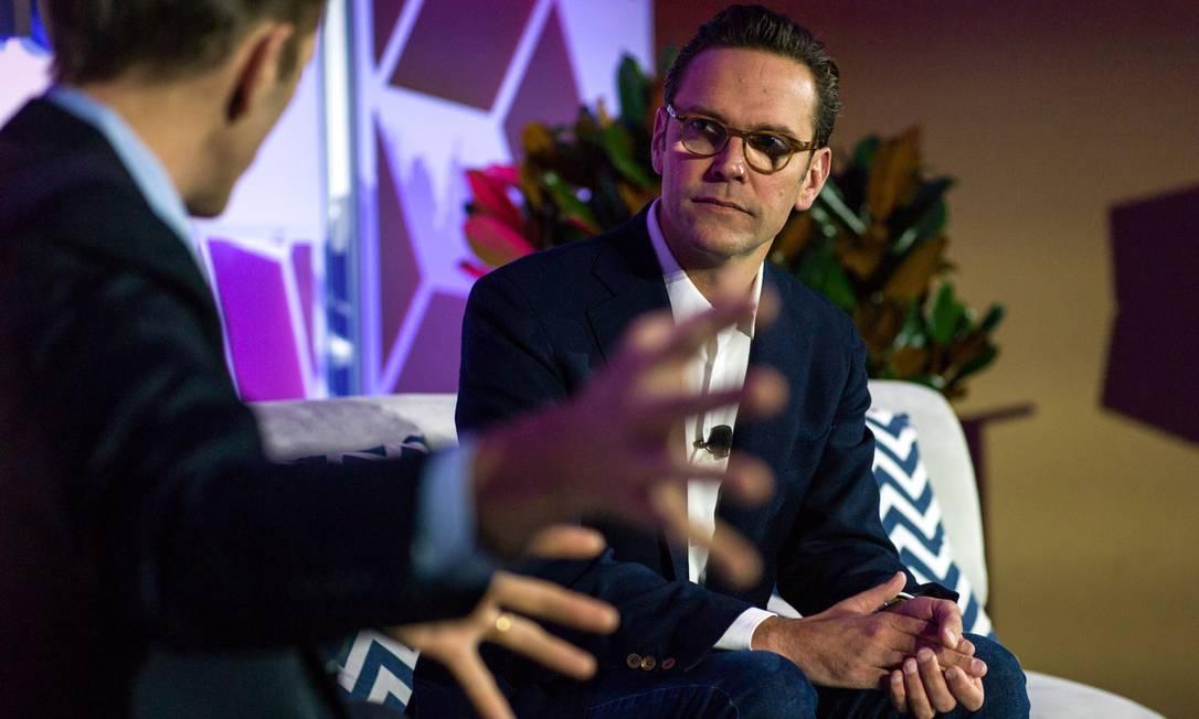 Filho de Rupert Murdoch, James Murdoch era considerado o herdeiro do império de mídia criado pelo pai Foto: Misha Friedman / Bloomberg