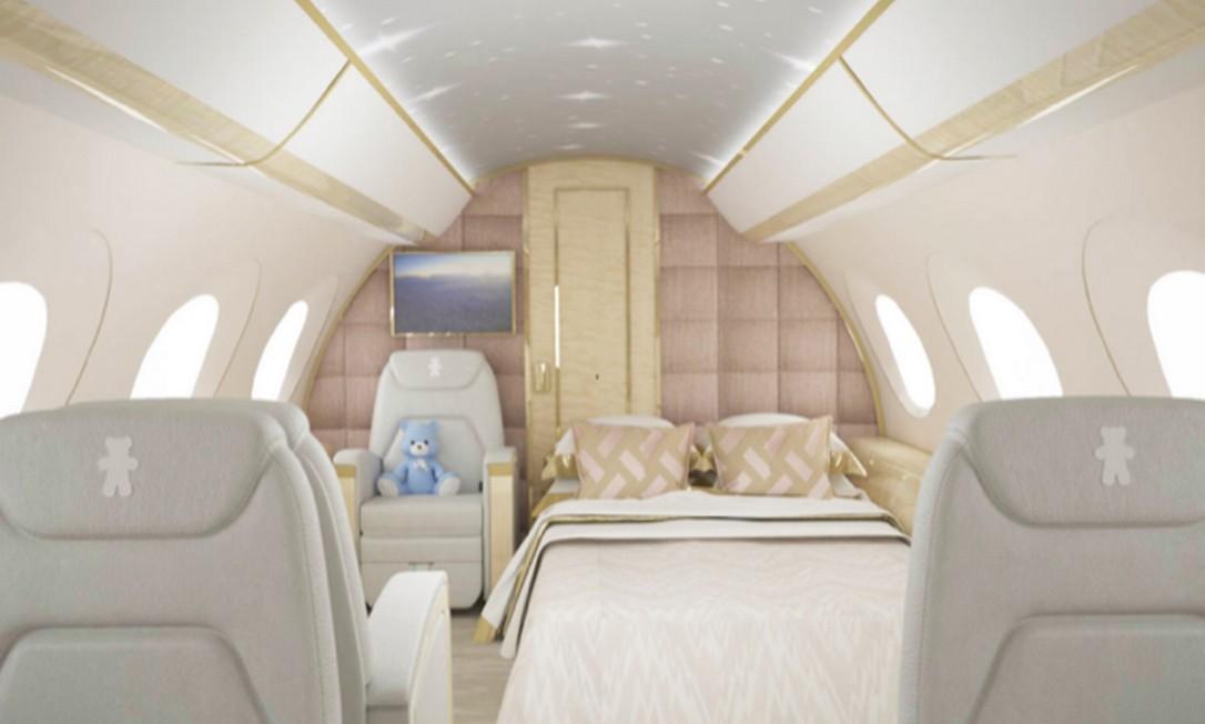 Projeto da cabine para crianças Fly Elite Nursery Foto: Divulgação