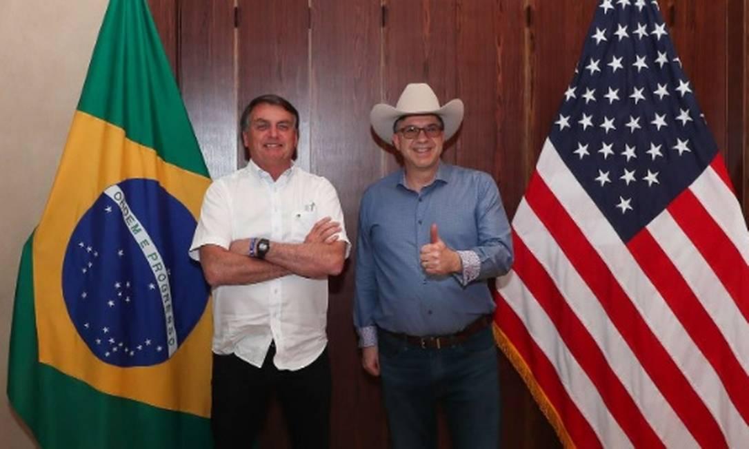 Bolsonaro e Todd Chapman Foto: Divulgação / Planalto