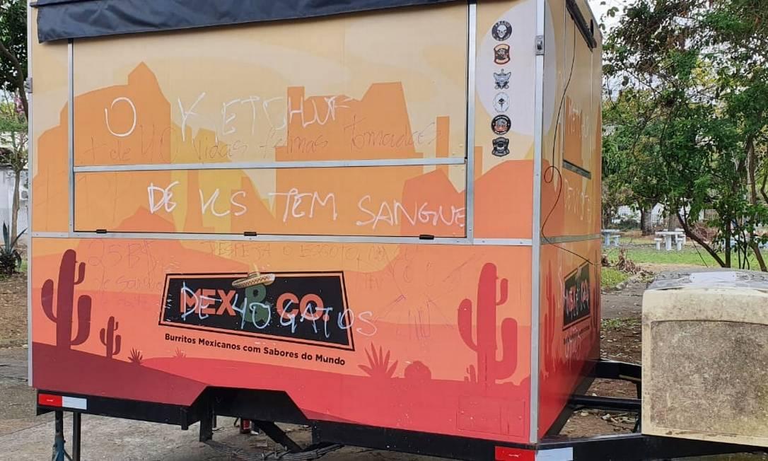 """""""O Ketchup de vocês têm sangue de gato"""", diz o trecho Foto: Marcos Paulo/Divulgação"""