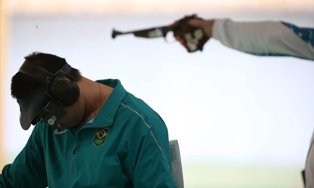 Felipe Wu conquistou medalha olímpica para o Brasil no tiro depois de 96 anos Foto: João Laet / Agência O Globo