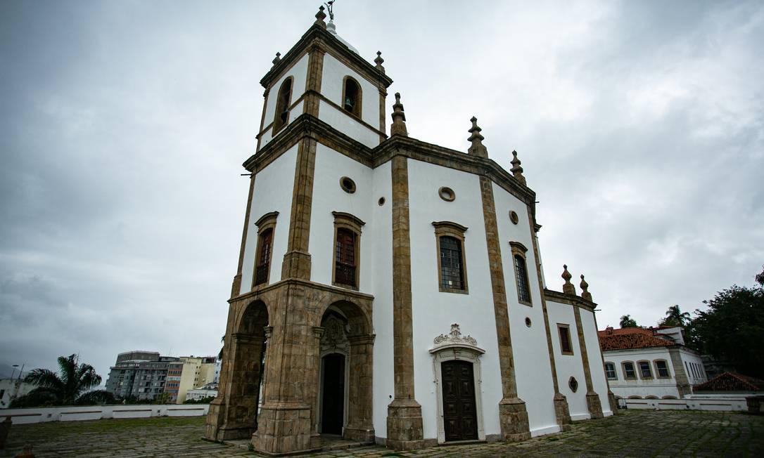 Com quase três séculos, Igreja da Glória volta a brilhar Foto: Hermes de Paula / Agência O Globo