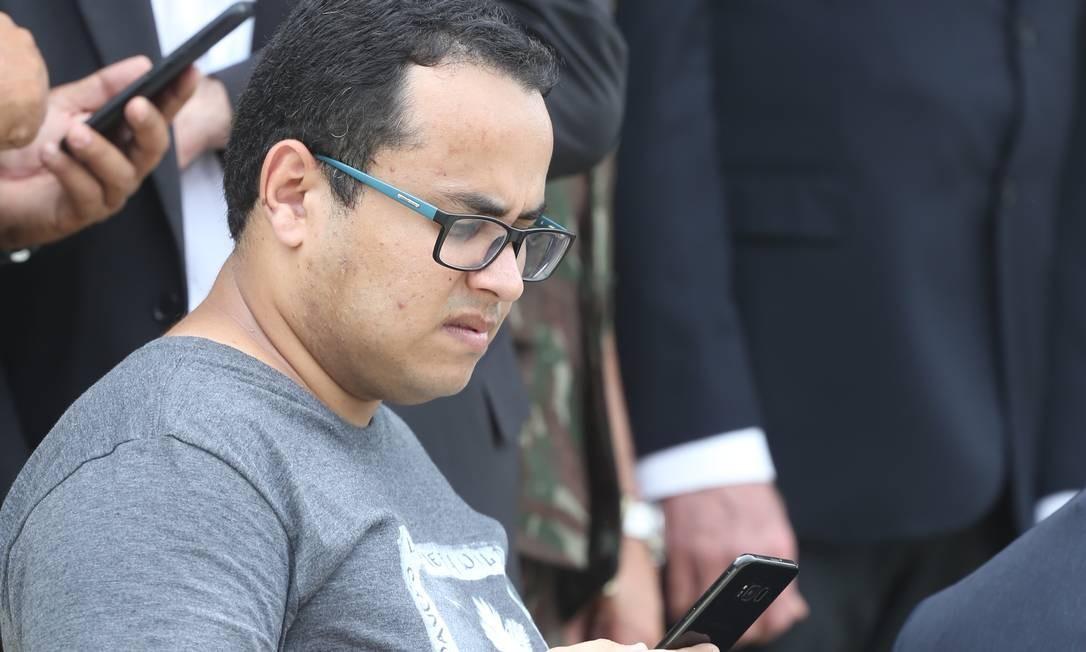 Tércio em cerimônia da Brigada de Infantaria Paraquedista, no Rio: assessor era administrador de páginas com postagens contra adversários de Bolsonaro Foto: Pedro Teixeira / 24-11-2018 / Agência O Globo