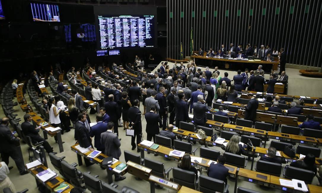 Plenário da Câmara dos Deputados Foto: Jorge William / Agência O Globo