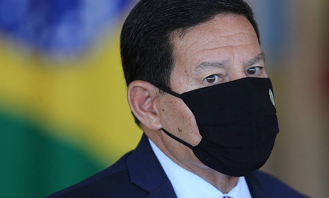 O vice-presidente Hamilton Mourão defende independência do Brasil em relação a disputa entre EUA E China Foto: Jorge William / Agência O Globo