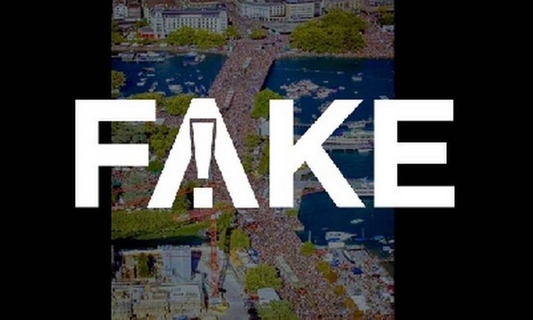 É #FAKE que foto mostre multidão em protesto contra isolamento em Berlim Foto: Reprodução
