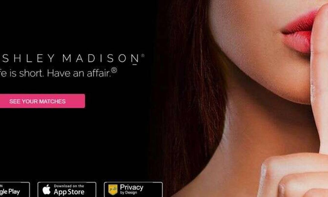 Ashley Madison é uma plataforma de traição Foto: Reprodução