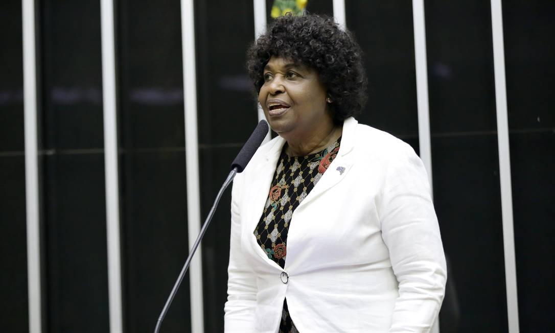 A deputada Bendita da Silva em sessão na Câmara Foto: MJS / Divulgação / Câmara dos Deputados