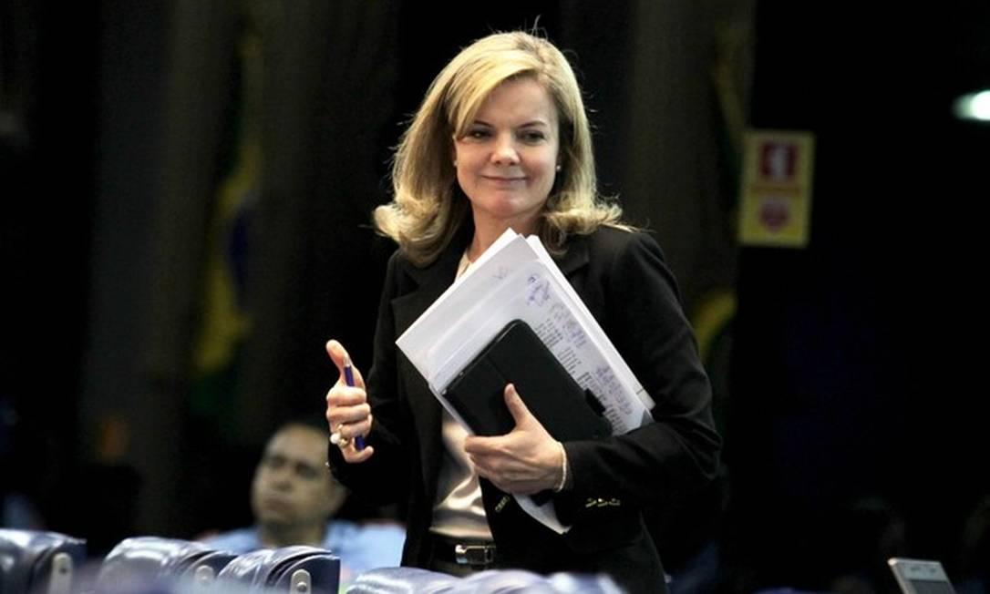 A presidente do PT, Gleisi Hoffmann Foto: Ailton de Freitas Agência O Globo
