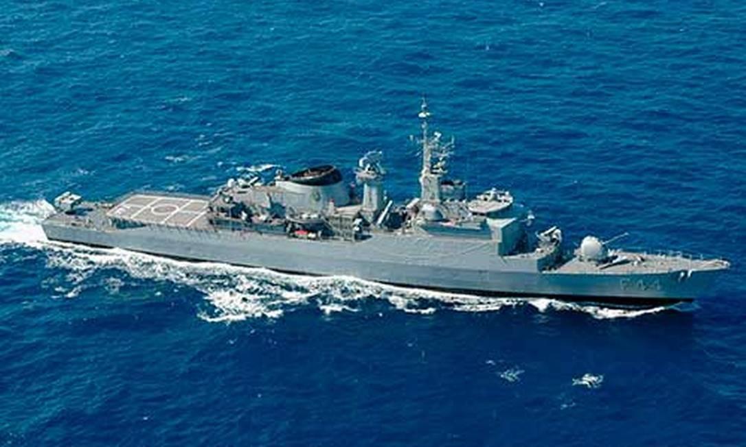 Fragata Independência estava em alto mar no momento da explosão Foto: Ministério da Defesa