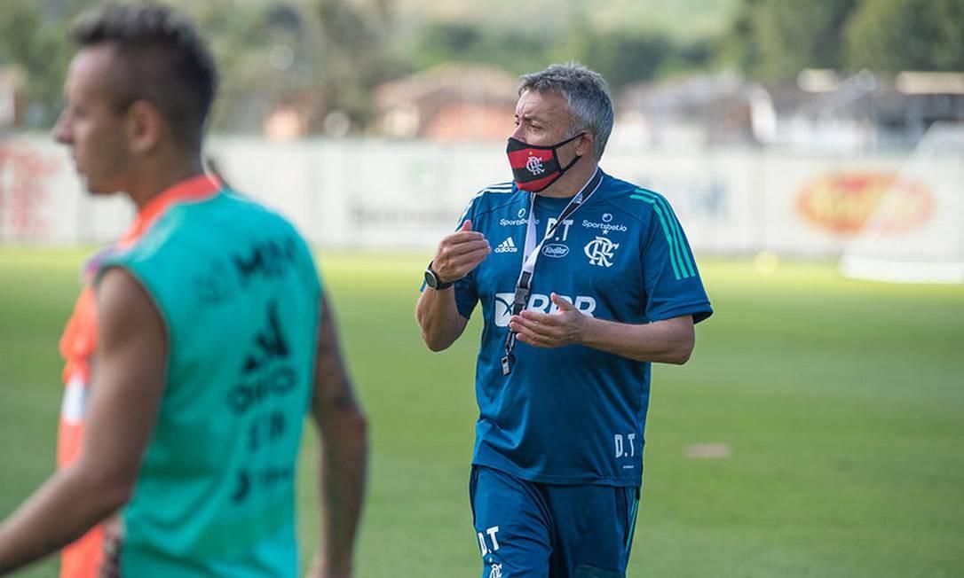 Torrent em seu segundo dia de Flamengo Foto: Divulgação