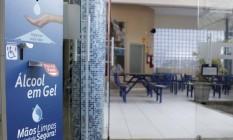 Escola particular da cidade de Campinas, interior de São Paulo, já faz os preparativos para receber os estudantes na unidade Foto: Denny Cesare/Código 19/Agência O Globo / Agência O Globo