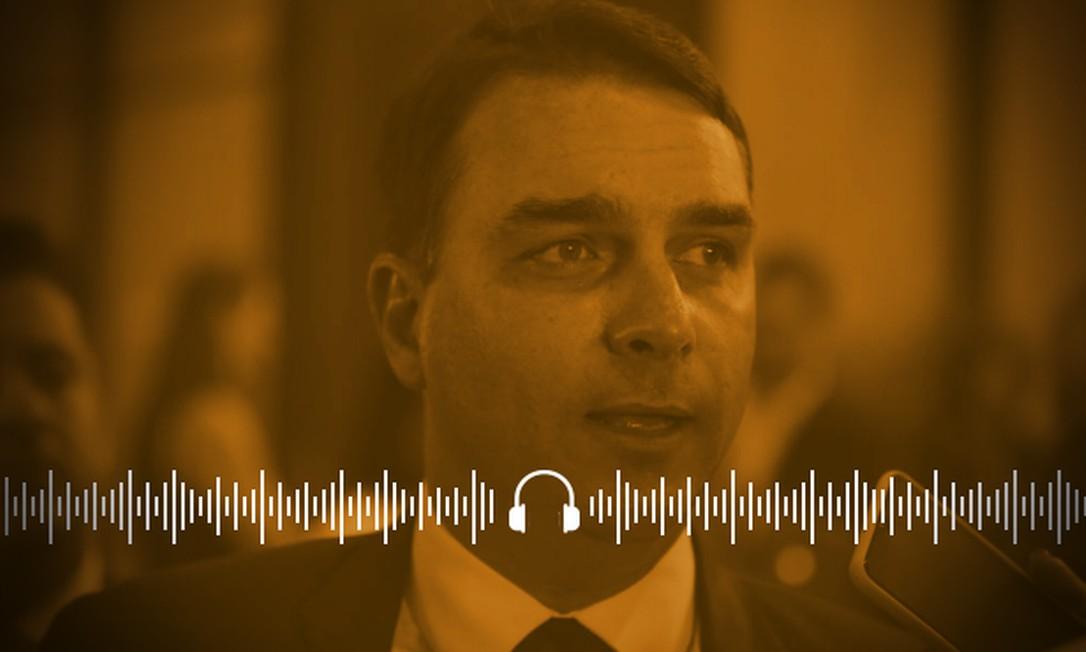 Flávio Bolsonaro se alinha à defesa de um plano de obras públicas para estimular a economia Foto: Arte