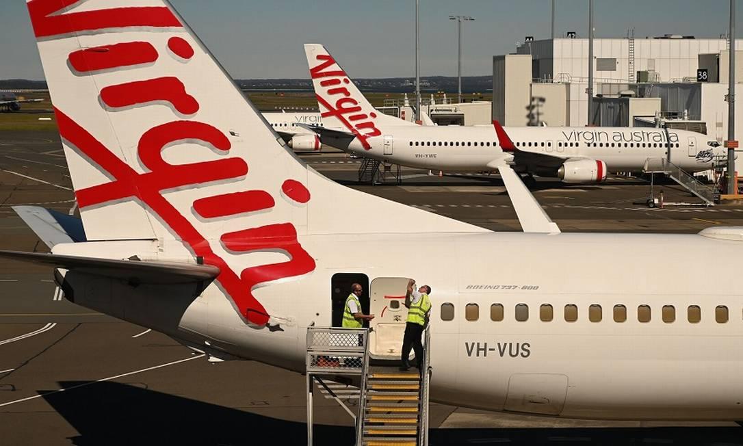 Virgin: recuperação judicial nos EUA. Foto: PETER PARKS / AFP
