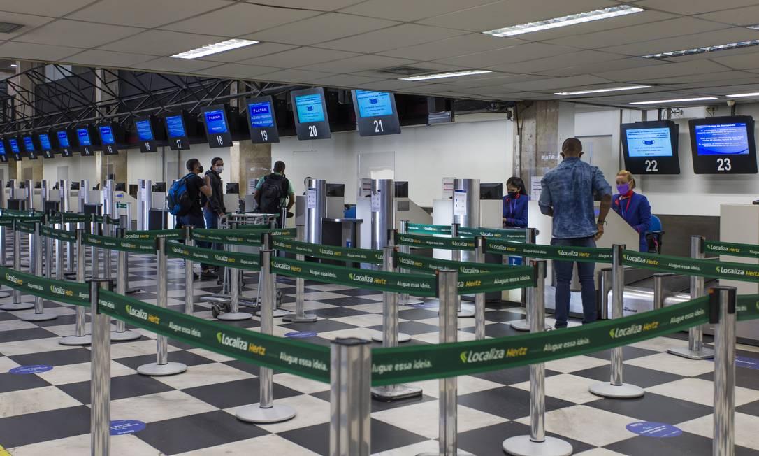 Movimentação no Aeroporto de Congonhas, em São Paulo Foto: Edilson Dantas/Agência O Globo/16-06-2020