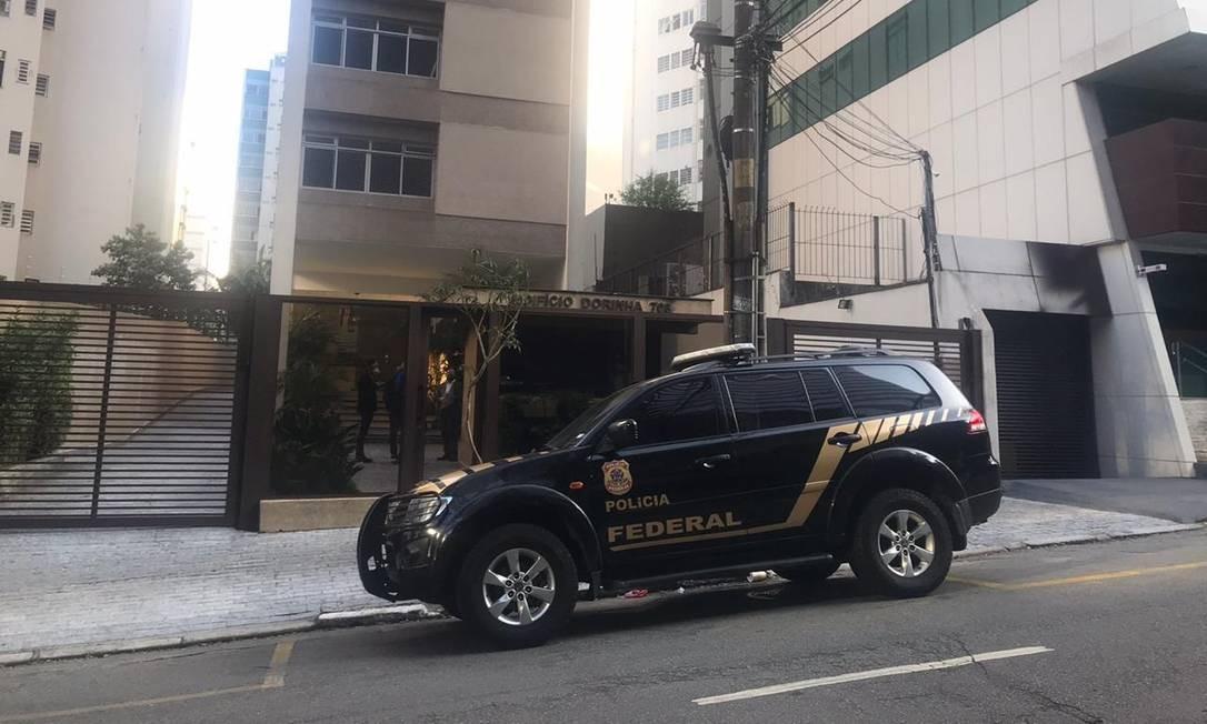 Agentes da PF também cumpriram mandados de busca e apreensão em um imóvel nos Jardins, bairro nobre de São Paulo Foto: Divulgação