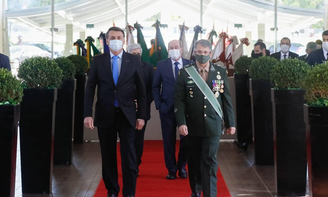 O presidente Jair Bolsonaro participa de cerimônia no Clube do Exército Foto: Isac Nóbrega/Presidência
